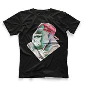 CamisetaMasculinaHookahAddctionGorilaPretaGrande