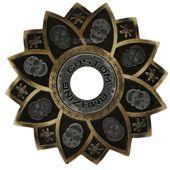 Prato-Amazing-Custom-Caveira-Mexicana-Dourado-com-Prata