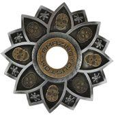Prato-Amazing-Custom-Caveira-Mexicana-Prata-com-Dourado