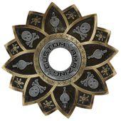 Prato-Amazing-Custom-Caveira-Pirata-Dourado-com-Prata