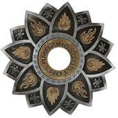 Prato-Amazing-Custom-Fogo-Prata-com-Dourado