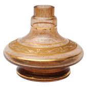Base-Shisha-Glass-Pequena-Aladim-Grega-Marrom