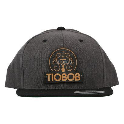 Bone-Snapback-TioBob-Cinza-com-aba-Preta