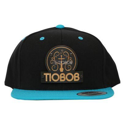 Bone-Snapback-TioBob-Preto-com-aba-Azul