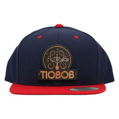 Bone-Snapback-TioBob-Azul-com-aba-Vermelha