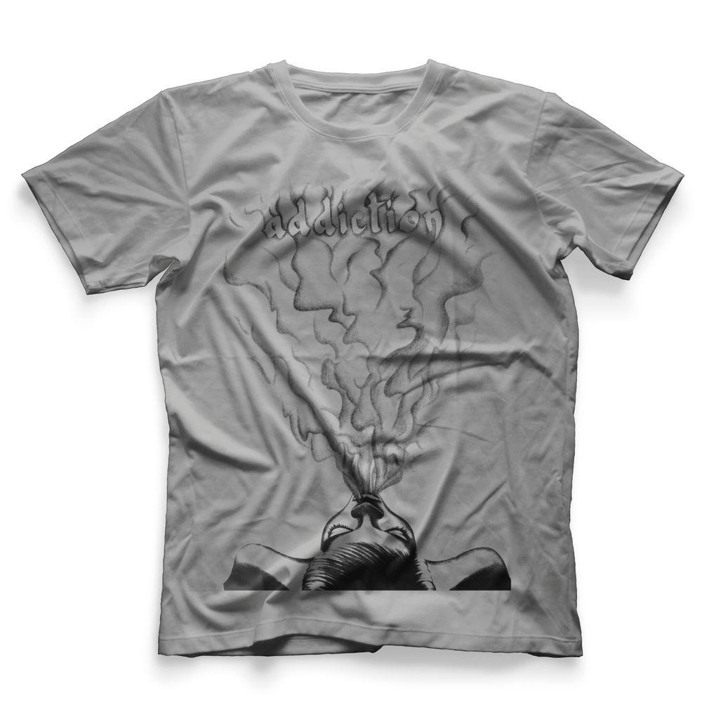 Camiseta Masculina Hookah Addction Smoke Girl Cinza - tiobob f2266209284