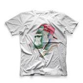 CamisetaMasculinaHookahAddctionGorilaBrancaPequeno