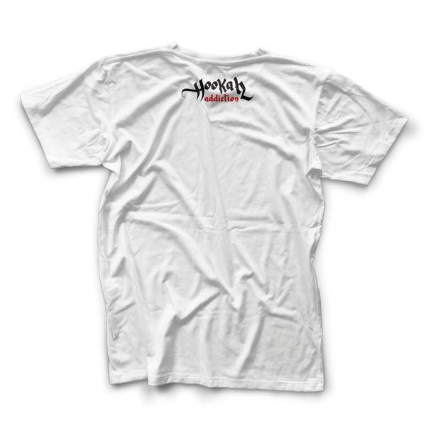 CamisetaMasculinaHookahAddctionGorilaBrancaGrande