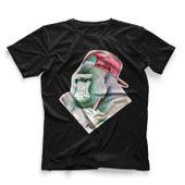 CamisetaMasculinaHookahAddctionGorilaPretaPequeno