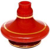 Base-Shisha-Glass-Pequena-Aladim-Faixa-Dourada-Vermelho