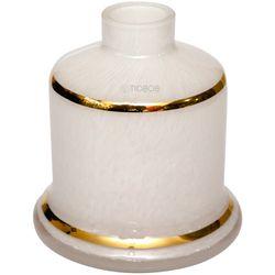 Base-Shisha-Glass-Pequena-Evolution-Faixa-Dourada-Branca