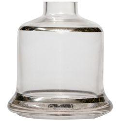 Base-Shisha-Glass-Pequena-Evolution-Faixa-Prata-Incolor