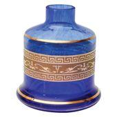 Base-Shisha-Glass-Pequena-Evolution-Grega-Azul-Escuro