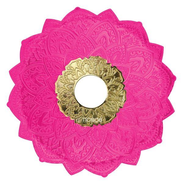 Prato-Malik-Grande-Details-Rosa-com-Dourado