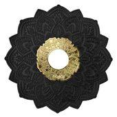 Prato-Malik-Grande-Details-Preto-Fosco-com-Dourado