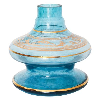 Base-Shisha-Glass-Pequena-Nix-Arabesco-Azul
