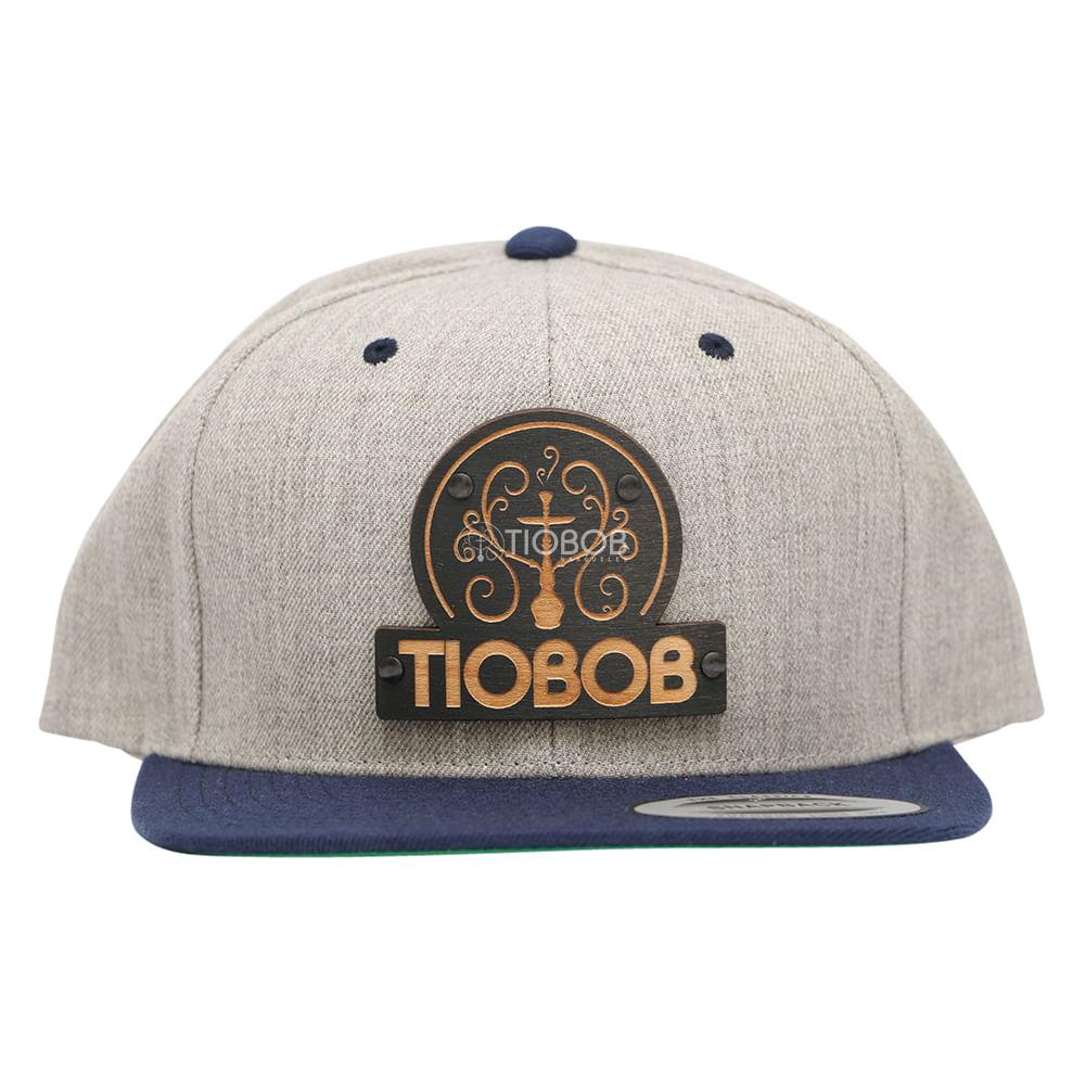 Bone Snapback TioBob Cinza com aba Azul - tiobob 6afd07cac4f