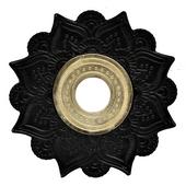 Prato-Joy-Medio-Mehndi-Preto-com-Dourado