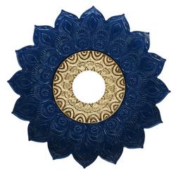 Prato-Joy-Medio-Folha-Azul-com-Dourado