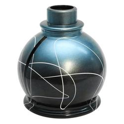 Base-Art-Glass-Ball-Preto-com-Azul