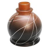 Base-Art-Glass-Ball-Preto-com-Marrom