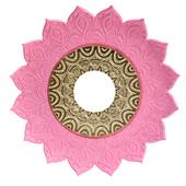 Prato-Joy-Pequeno-Folha-Rosa-com-Dourado