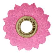 Prato-Joy-Pequeno-Mehndi-Rosa-com-Dourado