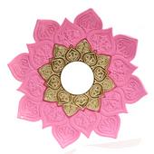 Prato-Joy-Pequeno-Fire-Rosa-com-Dourado