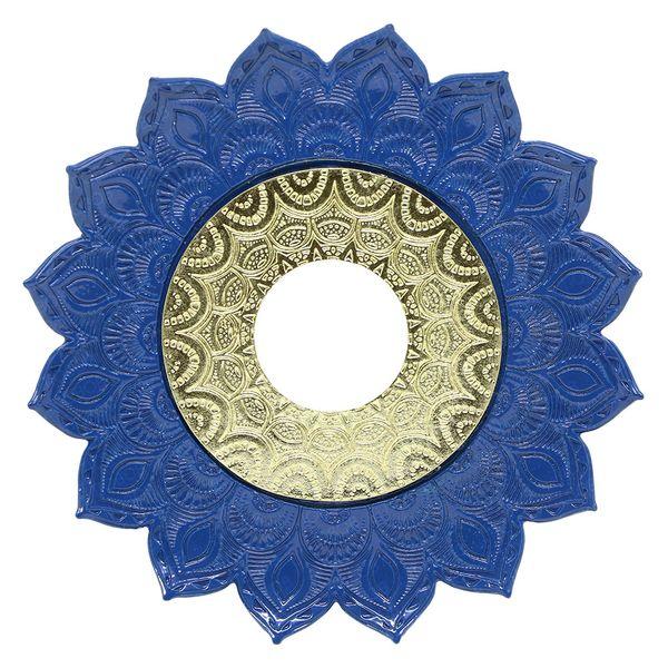 Prato-Joy-Pequeno-Folha-Azul-com-Dourado