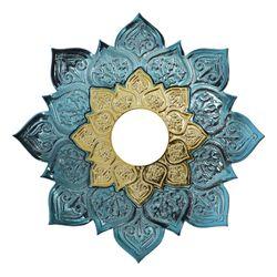 Prato-Joy-Pequeno-Fire-Metalizado-Azul-Claro-com-Dourado