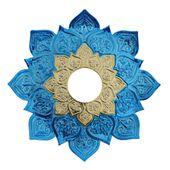 Prato-Joy-Pequeno-Fire-Metalizado-Azul-com-Dourado