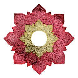 Prato-Joy-Pequeno-Fire-Metalizado-Vermelho-com-Dourado