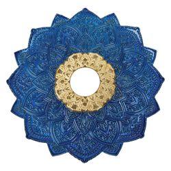 Prato-Malik-Grande-Details-Azul-com-Dourado